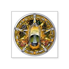 "Samhain Pentacle Square Sticker 3"" x 3"""