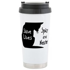 BLACKsavelivescat Ceramic Travel Mug