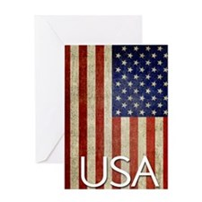 5x8_journal_old_american_flag_usa_01 Greeting Card