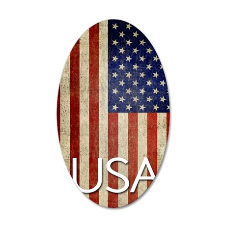 5x8_journal_old_american_fla 35x21 Oval Wall Decal