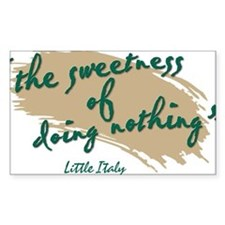 Sweetness Little Italy English Decal