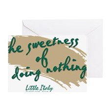 Sweetness Little Italy English Greeting Card