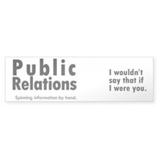 mug_pr_spinning Bumper Sticker