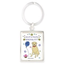 YellowLab Portrait Keychain