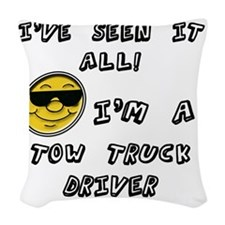 Seen it all Chef tow truck  Woven Throw Pillow