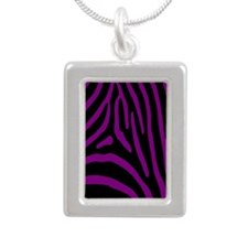 zebra 5 Silver Portrait Necklace