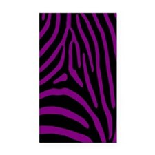 zebra 5 Rectangle Car Magnet
