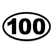 Ultra 100 Oval Bumper Stickers