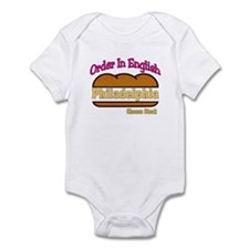 Order In English, Philly Chee Infant Bodysuit