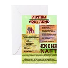 Small Autism Poster Greeting Card