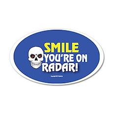 OTG 15 Smile on Radar 35x21 Oval Wall Decal