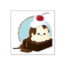 "brownie-sundae Square Sticker 3"" x 3"""