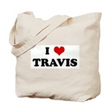 I Love TRAVIS Tote Bag