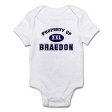 Property of braedon Infant Bodysuit