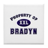 Property of bradyn Tile Coaster