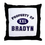 Property of bradyn Throw Pillow