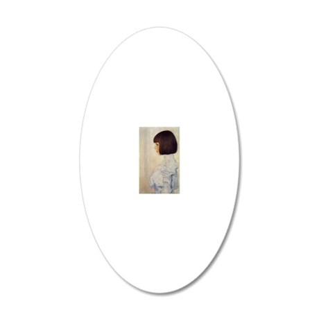 Gustav_Klimt_Portrait_of_Hel 20x12 Oval Wall Decal