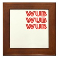 WUB DUBSTEP_orange_white.gif Framed Tile