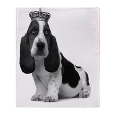 Basset Hound Puppy A4 Throw Blanket