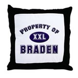 Property of braden Throw Pillow