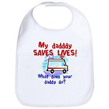 Daddy Saves Lives Ambulance Bib