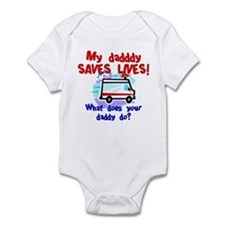 Daddy Saves Lives Ambulance Infant Bodysuit