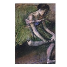 degas ballet green Postcards (Package of 8)