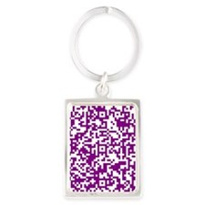 shop large QR-Code Portrait Keychain