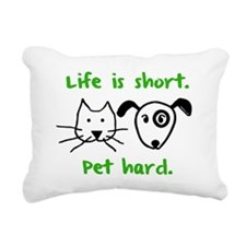 blackcatanddog Rectangular Canvas Pillow