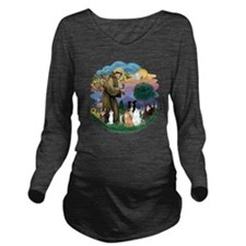 StFrancis-ff-7 cats- Long Sleeve Maternity T-Shirt