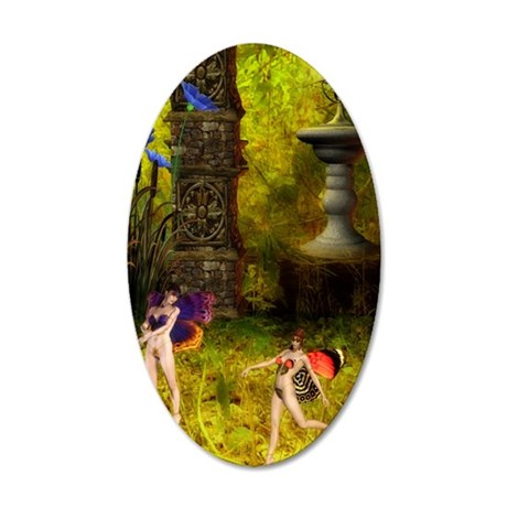cpinthefaerygardeniPhone3 35x21 Oval Wall Decal