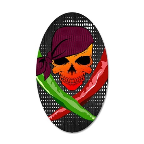 Chili Pirate-poster 35x21 Oval Wall Decal