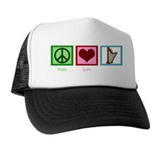 peaceloveharpwh Trucker Hat