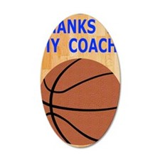 Thank You Basketball Coach G Wall Decal