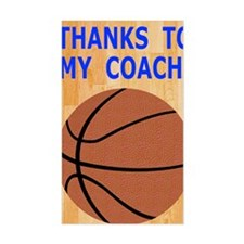 Thank You Basketball Coach Gre Decal