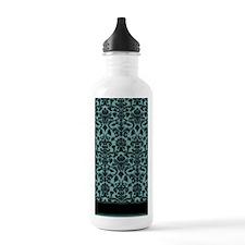 Damask Pattern Teal Water Bottle