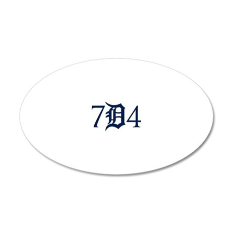 734B 20x12 Oval Wall Decal