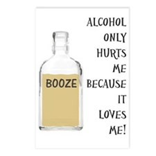 Booze Postcards (Package of 8)