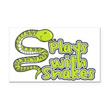 CA_155_v02_playswithsnakes Rectangle Car Magnet