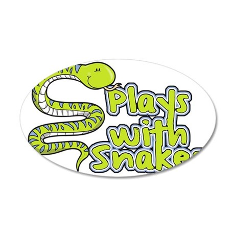 CA_155_v02_playswithsnakes 35x21 Oval Wall Decal