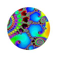 """Colorful Coastline 3.5"""" Button"""
