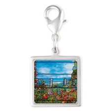 Tiffany Seascape Silver Square Charm