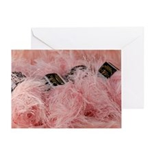 YarnpinkFuzzy_laptop Greeting Card