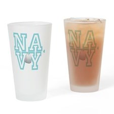 usnavywhite Drinking Glass