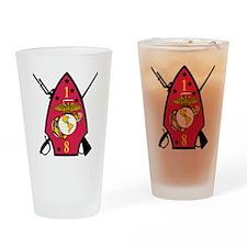 SSI-1ST  BATTALION-8TH MARINE RGT Drinking Glass
