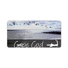 CAPEBLUILLUStemp_laptop_ski Aluminum License Plate