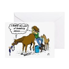 Horse Vet-dark Greeting Card