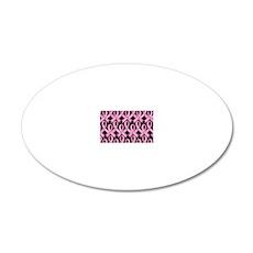 PinkRibnDotStLapTcB 20x12 Oval Wall Decal