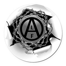 alf-white-01 Round Car Magnet