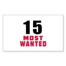 15 most wanted Decal